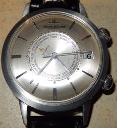 d7f1674fffb53 1960 S JAEGER LECOULTRE SS 825 MEMOVOX ALARM WORLD TIME OVERSIZE CASE