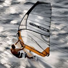 cool speed shot of windsurfing