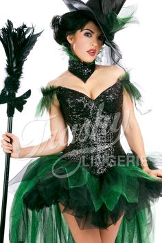 witch already have the mini tulle skirt and hat