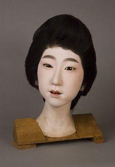 Iki-ningyo (living doll) head of a woman