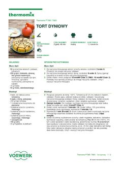 thermomix - Tort dyniowy