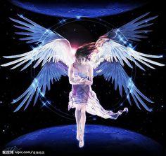 Ángeles...Ángel surcando el Cosmos