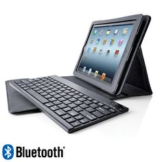 Bluetooth® Keyboard Pro with Leather Case for iPad® Tablets.... Bought this for my husband he loves it! The only thing is after 5 mths the keyboard isn't working. UGH...Good thing they have a one year warranty at Brookstone!
