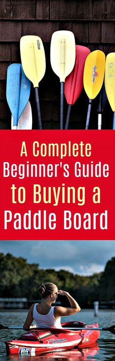A Complete Beginner's Guide to Buying A Paddle Board: If you are involved in paddle boarding, then you must know the importance of choosing the best paddle board. Buying a paddleboard is considered the best investment because this sport activity gives you a complete workout. #paddleboard #paddlebaording #buyingapaddleboard #paddling #sports #watersports