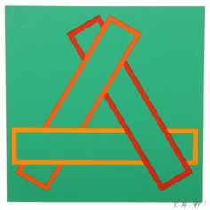 Richard Anuszkiewicz [USA] (b ~ 'Annual Edition', Screenprint on card stock × cm). Abstract Geometric Art, Large Art, Color Inspiration, Screen Printing, Card Stock, Art Gallery, Artsy, Canvas Prints, Letters