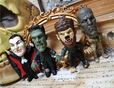 Universal Monsters horror classics necklace- Pick ONE- Frankenstein Dracula Mummy Wolfman wolf vampire egyptian creepy cute macabre scary