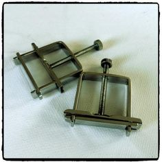 Lady Kink - Steel Nipple Press Clamps R This pair of stainless steel nipple press clamps are a must have for any kinkster's toy box! Toy Boxes, Stainless Steel, Lady, Toy Chest
