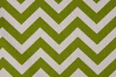 Premier Prints Printed Cotton Drapery Fabric Zig Zag Village in Chartreuse/White $7.48 per yard