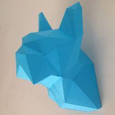 Busto de Dogo - BRICOLAJE kit plegable para un estilo de diamante poli baja geométricas hermosas Bulldog busto puede ser utilizado como pantalla papercraft