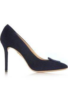 Charlotte Olympia Catherine suede pumps | NET-A-PORTER