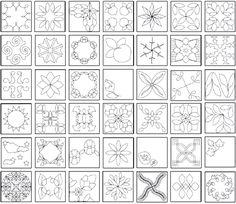Zentangle Patterns For Beginners | El taller de Andrea: Diseños para acolchar