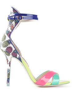 Sophia Webster Pineapple Print Sandals - Mcmarket Monaco - Farfetch.com