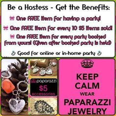 Host a Paparazzi Jewelry and Accessories party and earn FREE items! My hostesses have been averaging 6-10 items per party! Contact me to schedule yours! https://www.facebook.com/ConisuCreations