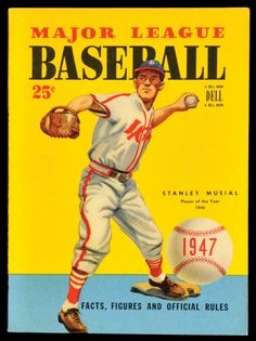 1947 Dell Baseball Book with Stan Musial Cover.