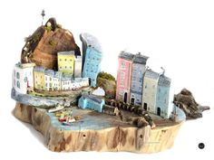 Wood sculpture * Cottages * Custom Art * Driftwood Art * Driftwood Cottage Sculpture * Wooden Cottages * Hand Made in Wales * - Have your own CUSTOM scene created, any location or scene and created to capture your memories or f - Wooden Cottage, Driftwood Crafts, Elements Of Art, Little Houses, Tiny Houses, Custom Art, House Painting, Wooden Boxes, Home Art
