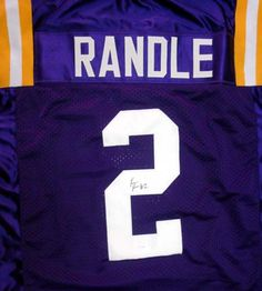 Rueben Randle Autographed LSU Tigers Purple Jersey PSA/DNA RookieGraph Stock