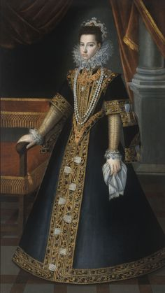 Infanta Catherine Michelle of Spain,Duchess of Savoy by Giovanni Carraca.1585