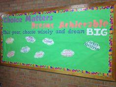 Start of year bulletin board display! Dream big