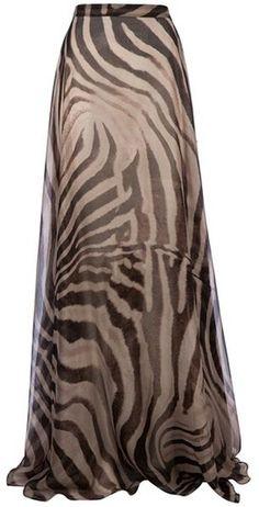 Zebra Print Maxi Skirt<3