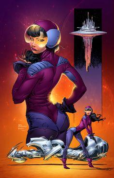 space chick by SeanE.deviantart.com