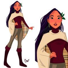 Christmas Pocahontas by  nereamas.art