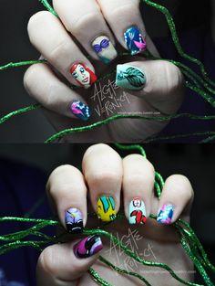 Little Mermaid Nails