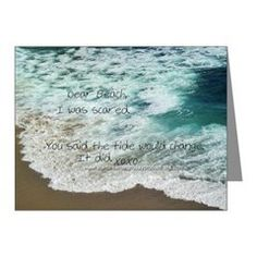 Love Notes To The Beach Tide Change Note Cards