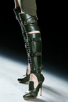 Fashion Your Seat Belt   Hell on Heels. The shoes at Prabal Gurung could...