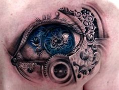 Design+Steampunk+Biomechanical+heart+and+wingsTattoo | mechanical wings tattoo