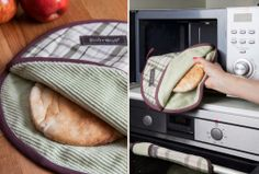 Pita warmer for the microwave. No more hard and dry breads.