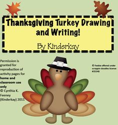 """FREE MISC. LESSON - """"Thanksgiving Turkey Drawing and Writing Packet"""" - Go to The Best of Teacher Entrepreneurs for this and hundreds of free lessons.  http://thebestofteacherentrepreneurs.blogspot.com/2012/11/free-misc-lesson-thanksgiving-turkey.html"""