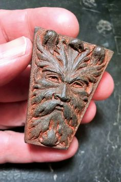 Weathered Iron finish Green Man Keystone-Small Victorian Architectural Ornament by sculptor Richard Chalifour Victorian Buildings, Victorian Architecture, Architecture Details, Architecture Sketches, Stone Carving, Wood Carving, Dragons, Sculpting, Creations