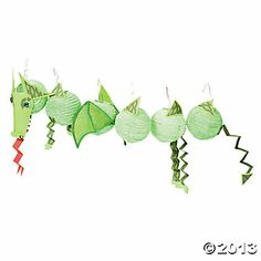 Paper lantern dragon as party decoration.