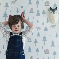 Our Into The Wild wallpaper design is an adventurous design for mini explorers. It is the perfect wallpaper for a woodland theme nursery or kid's bedroom. Call today on Boys Wallpaper, Nursery Wallpaper, Wallpaper Online, Wallpaper Decor, Forest Wallpaper, Perfect Wallpaper, Kids Corner, Into The Wild, Rockett St George
