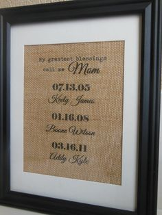 Mother's day Gift Burlap Print with by BurlapByEverAfter on Etsy