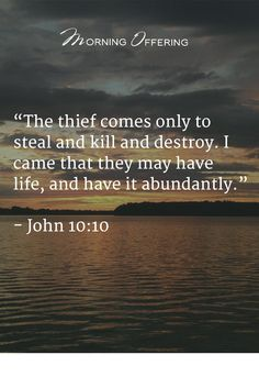 John 10:10, Satan will do everything he can to keep us from planting God's Word into the soil of our hearts so he can destroy our lives…and our marriages!!;(