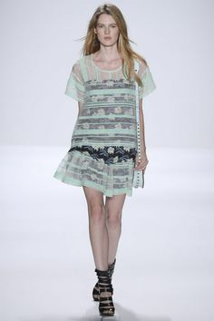 Sheer drop waist dress at Rebecca Minkoff #NYFW 2013 #summer #fashion
