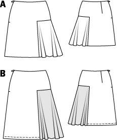 Short Skirt with Godet 08/2014 #105A – Sewing Patterns | BurdaStyle.com