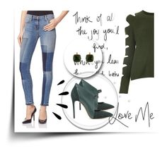 """""""AD"""" by behijadedic ❤ liked on Polyvore featuring J Brand, ZoÃ« Jordan, Casadei, Old Navy and Les Néréides"""