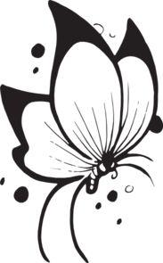 Flying Butterfly clip art - vector clip art online, royalty free & public domain