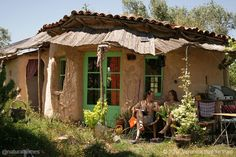 This is one of nine homes built by women. They are built using lime, hemp, straw bales, stone, clay and cob. See each of them at www.naturalhomes.org/natural-building-women-2.htm