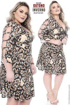 Vestido Plus Size Taciana Plus Size Fashion Dresses, Plus Size Fashion For Women, Plus Size Women, Plus Size Dresses, Plus Size Outfits, Fashion For Chubby Ladies, Curvy Girl Fashion, Curvy Outfits, Fashion Outfits