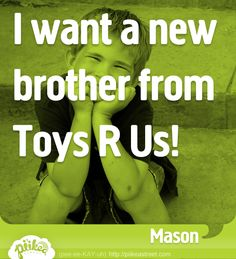 A new brother?! #thingskidssay #funny #brother