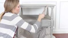 Learn how to dry brush on top of painted furniture, for a weathered, soft, or beachy look.