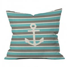 DENY Designs Bianca Green Anchor 1 Throw Pillows ($45) ❤ liked on Polyvore
