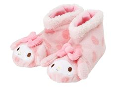 My Melody Microfiber Poofy Indoor Shoes Slippers Pink SANRIO JAPAN Xmas Christmas Gift