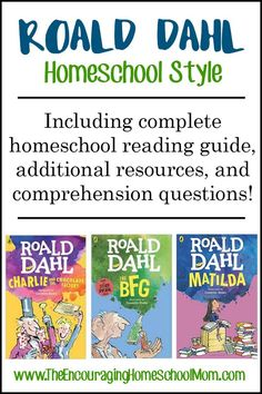 Roald Dahl Homeschool Style ~ including complete homeschool reading guide, resources, and comprehension questions!