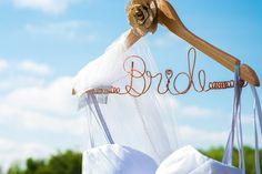 Custom hanger for the Bride's dress.  www.allypapko.com