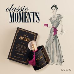 Create a classic moment with our signature Far Away scent, which comes in a beautiful heritage-inspired bottle adorned with a pink tassel. Avon Online, Ambre, Avon Representative, Jasmin, Latest Books, Spice Blends, Far Away, No Time For Me, Medium
