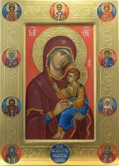 'Written' by Vladimir Guk Religious Images, Religious Icons, Religious Art, Byzantine Icons, Byzantine Art, Russian Icons, Russian Art, Sign Of The Cross, Religious Paintings
